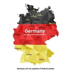 Map of germany - bundesrepublik deutschland vector