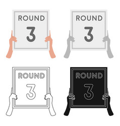boxing ring board icon in cartoon style isolated vector image
