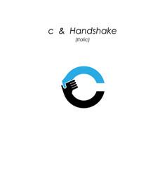 Creative c- letter icon abstract logo design vector