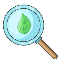 organic search icon cartoon style vector image