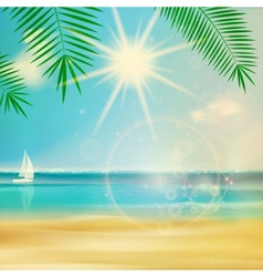 Vintage summer beach design vector image
