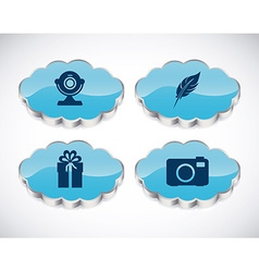 Applications cloud design vector