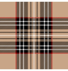 classic beige tartan fabric vector image