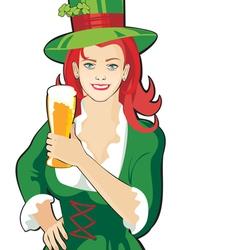 Pub waitress beer festival vector