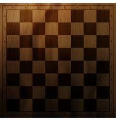 Vintage chess board vector