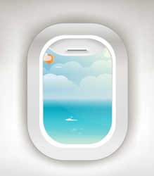 Aircraft window summer season vacation vacation v vector