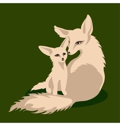 a fox family vector image vector image