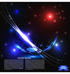 Abstract planet with rings vector image