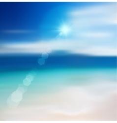 Blur beach background vector