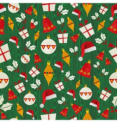 Christmas icons pattern vector image vector image