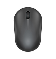Dark gray realistic computer mouse vector image
