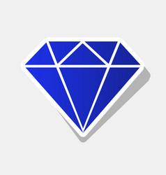 diamond sign new year bluish vector image