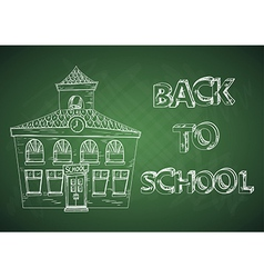 Education back to school house vector