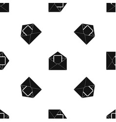 Envelope with card pattern seamless black vector