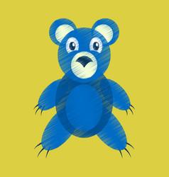 flat shading style icon toy bear vector image