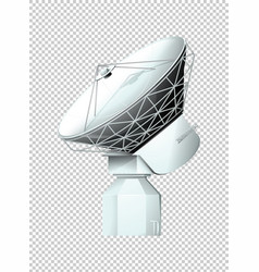 Modern satellite on transparent background vector