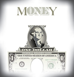 Money one dollar vector