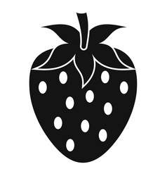 one strawberry berry icon simple style vector image vector image