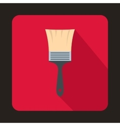 Paint brush icon flat style vector image