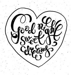 Romantic quote good night sweet dreams vector