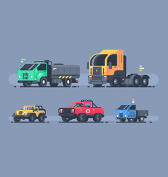 set of types cars vector image