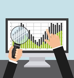 stock exchange vector image