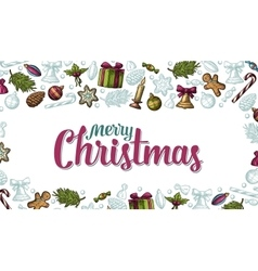 Template for merry christmas happy new year vector