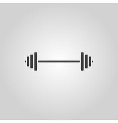The dumbbell icon bodybuilding symbol flat vector