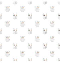 Three bowling pins pattern vector