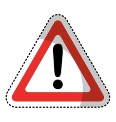 triangle alert signal icon vector image