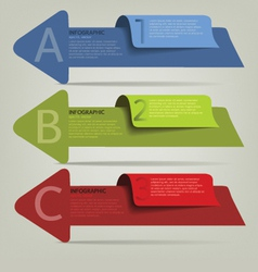 002 2infographic plan arrow vector image vector image