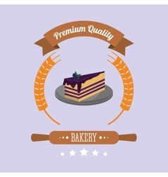 Cake bakery related emblem image vector
