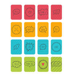 set of banners cute cards with speech bubbles vector image