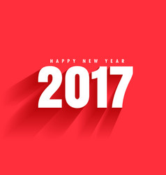 Red background of 2017 text with shadow moving vector