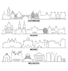 Luxembourg helsinki monaco and wellington vector