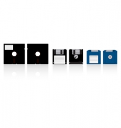 diskettes vector image