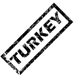 Turkey stamp vector