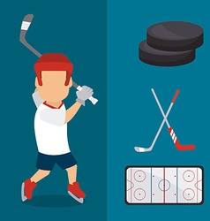 Hockey design vector