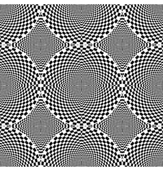Design seamless monochrome checked circle pattern vector