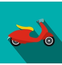 Classic scooter icon flat style vector