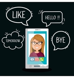 Mobile chat design vector