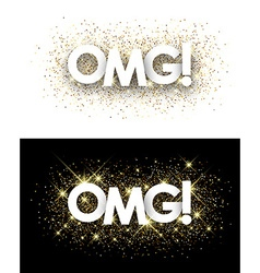 Omg paper banners vector