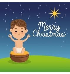 Baby jesus icon merry christmas design vector