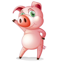 A pig dancing vector image