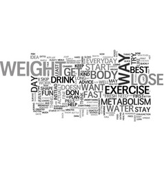 Best way to lose weight fast text word cloud vector