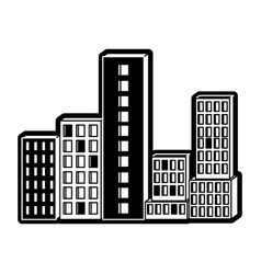 building set city black silhouette vector image vector image