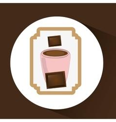 Chocolate sugar desert vector