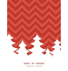 colorful ikat chevron Christmas tree silhouette vector image