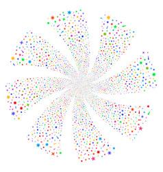 Confetti stars fireworks swirl flower vector