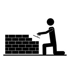 Contractor or handy man icon image vector